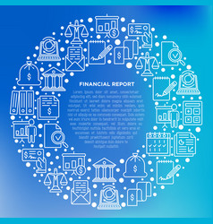 Financial report concept in circle vector