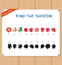 Find the Shadow Educational Activity Task for vector