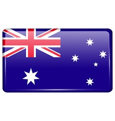 Flags Australia in the form of a magnet on vector image