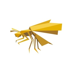 Flying bee insect in origami style vector image