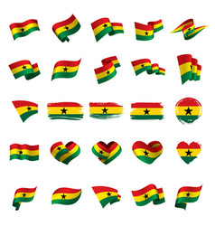 Ghana flag vector