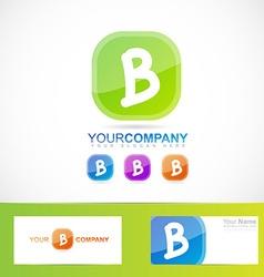 Green letter B logo vector