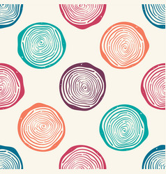 Grunge seamless pattern with tree rings modern vector
