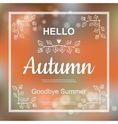 Hello autumn card design vector