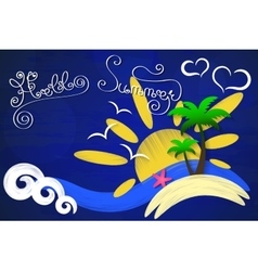 Hello summer sun vector image