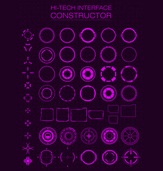 hi-tech interface constructor design elements for vector image