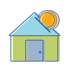 House to save cash money economy vector