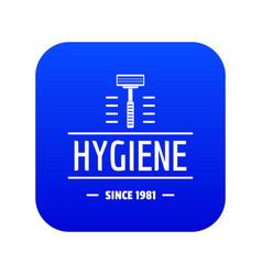 Hygiene face icon blue vector