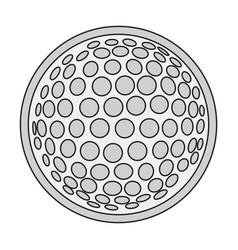 Icon in flat design golf ball vector