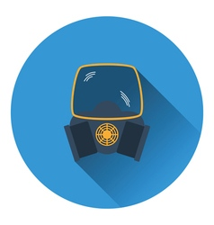 Icon of chemistry gas mask vector image vector image