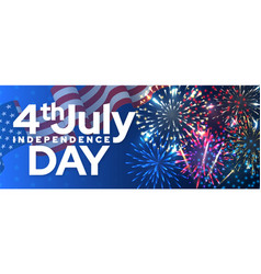 independence day isolated banner template vector image