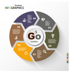 infographic geometric graph business concept vector image