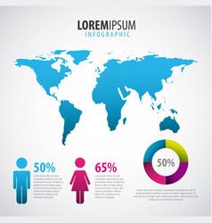 infographics statistics diagram vector image
