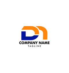 initial letter dm logo template design vector image