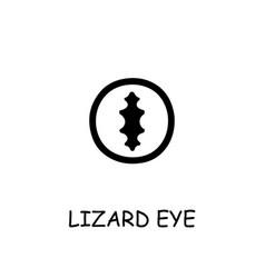 Lizard eye flat icon vector
