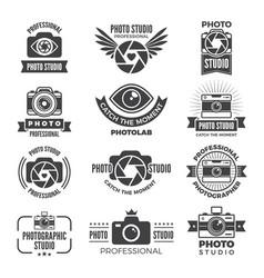 logotypes and symbols photo studios vector image