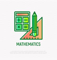 Mathematics symbol thin line icon vector