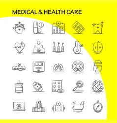 Medical and health care hand drawn icon for web vector
