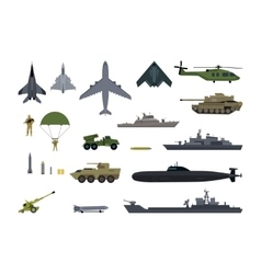 Military Resources Army Icons Set War Ammunition vector image