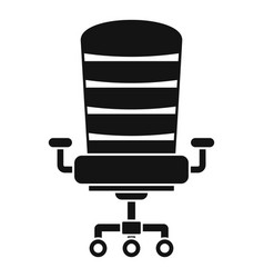 modern desk chair icon simple style vector image