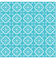 portugal tile flat seamless pattern design vector image