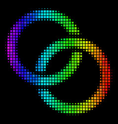rainbow dotted wedding rings icon vector image