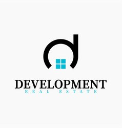 real estate initial letter d logo design template vector image