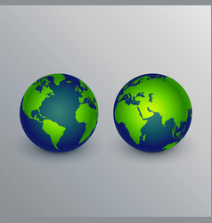 realistic earth icons sign design vector image