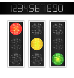 Road traffic light realistic led panel vector