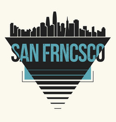 San francisco graphic t-shirt design tee print vector
