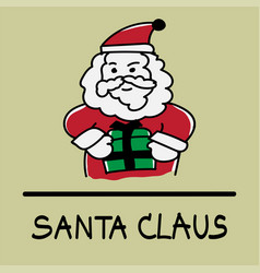 Santa claus hand-drawn style vector