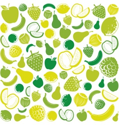 Seamless pattern with fruit vector
