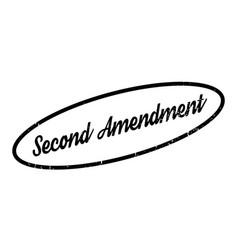 second amendment rubber stamp vector image