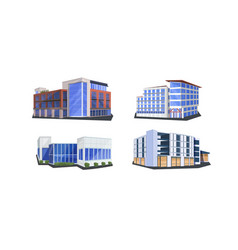 Set different commercial corporate office vector