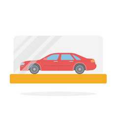 small scale car model flat isolated vector image