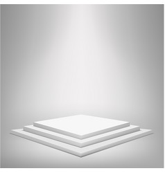 square podium with steps vector image