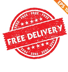 Stamp sticker free delivery collection - - vector