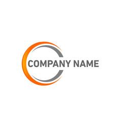 Swoosh logo company vector