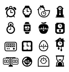 Time icon set vector