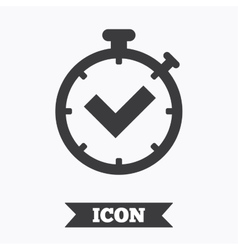 Timer sign icon Check stopwatch symbol vector