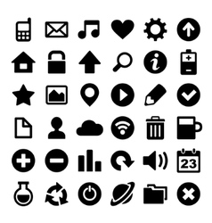 Universal Simple Web Icons Set vector image