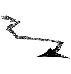 Urban arrow vector