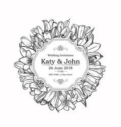 vintage elegant wedding invitation vector image