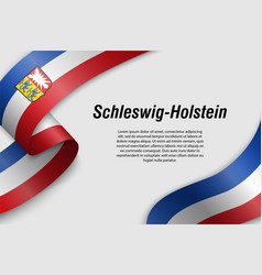 waving ribbon or banner with flag state germany vector image
