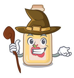 Witch apple cider in character shape vector