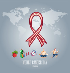 world cancer day-08 vector image