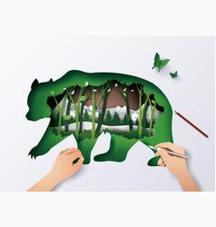 World wildlife animal vector