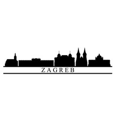 Zagreb skyline vector
