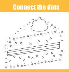connect the dots by numbers children educational vector image vector image