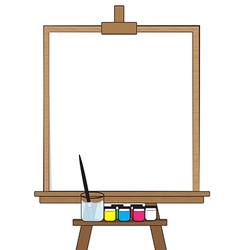 Drawing board vector image